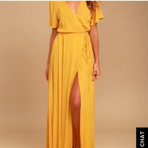 Yellow lulus maxi dress